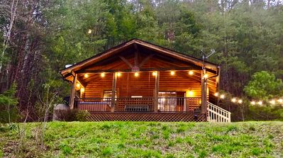Photo for Adorable romantic and private log cabin surrounded by nature