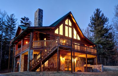 Photo for Visit Black Bear Lodge on 22 Secluded Acres with a Million Dollar View