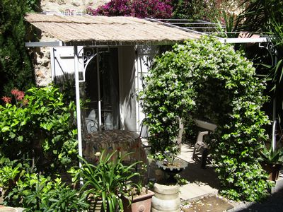 Photo for Holiday rentals in private garden on the port