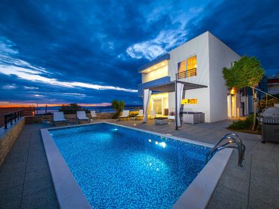 Photo for ctma110 - Modern semi-detached house with private pool in Makarska, max 6 + 2 persons