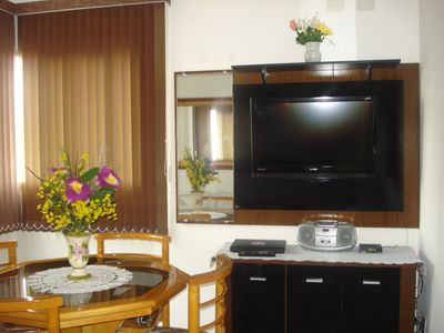 Photo for Beautiful apartment, overlooking the sea at Ponta da Praia with Internet Access