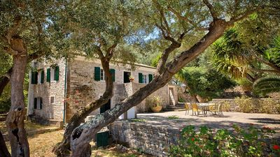 Photo for Renovated traditional house with pool and sea views: Olive Grove House