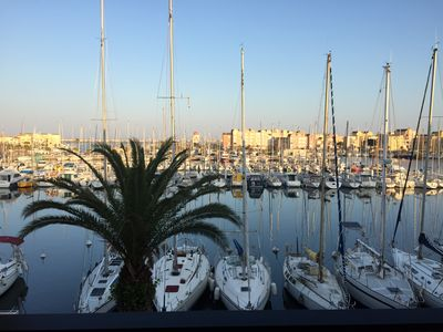 Photo for Gruissan spacious T3 Pool and harbor view