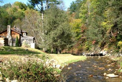 1/2 mile of Class A stocked trout stream runs directly behind the cabin