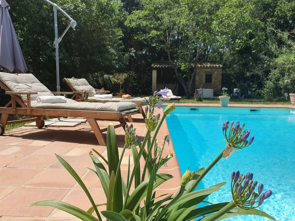 Immersion Piscines Et Spas cowboy cabin, mas provençal equestre, swimming pool - goudargues