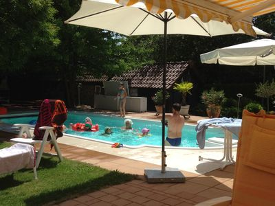 Photo for Family holiday (W2) with heated pool in the Allgäu / Lake Constance (Oberurbach) (3ZKB)