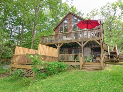 Photo for Deep Creek Lake - Lakefront - Sleeps 12 W/ Hottub, Private Dock & Pups Ok Too!