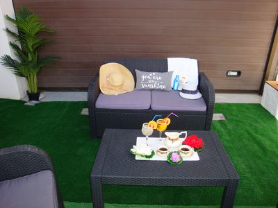 "Photo for ""PARADISE APARTMENT"" at 100 meters from the beach (Wifi free, Satellite TV)."