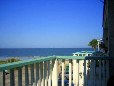 View from Master bedroom on private balcony