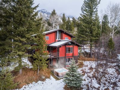 Photo for Outpost: 5 Bedroom Ski-In Home with Private Hot Tub & AC