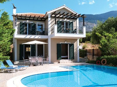 Photo for Charming villa w/ stunning views, private terrace, pool, BBQ and satellite TV