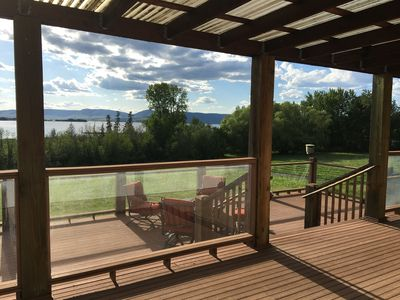Photo for Stylish & Convenient Residence w/Sauna & Grand Deck overlooking Flathead Lake!