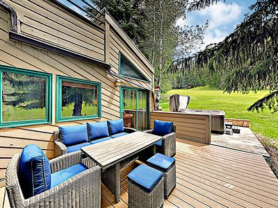Outdoor Lounge - Welcome to Eagle-Vail! This townhome is professionally managed by TurnKey Vacation Rentals.