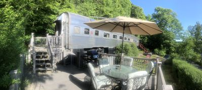 110ft historic 1936 Stainless Budd Rail Carriage on Skaneateles lakes only rail
