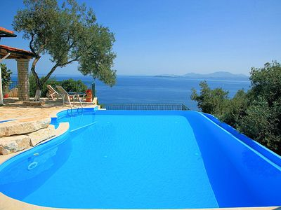Photo for Persephone: Large Private Pool, Walk to Beach, Sea Views, A/C, WiFi, Car Not Required
