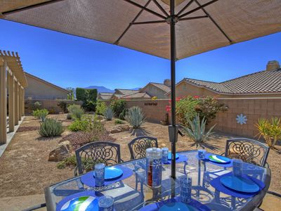 Enjoy the outdoors with a south & west facing desert landscaped backyard