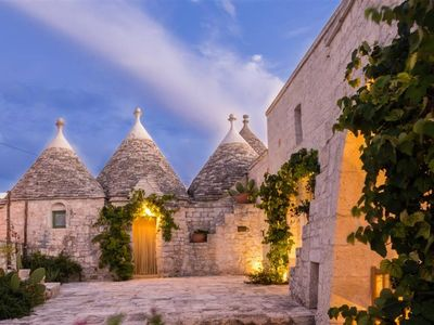 Photo for Stunning 5 bed Puglia trullo. Private pool. BBQ. Outdoor bar. WIFI.