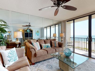 Photo for NEW LISTING! Quiet beachfront condo w/ shared hot tub, pool & stunning views!
