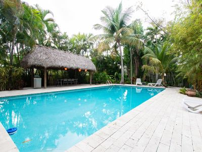 Photo for Tropical Paradise !! Spacious vacation home with XXL 20*40 ft heated pool