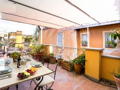 Photo for Vittoria Terrace apartment in Piazza di Spagna North with WiFi, air conditioning, private terrace &…