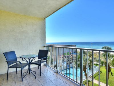 Photo for New Listing! Bright & fun oceanfront condo w/sunset views! 2 pools, free WiFi!