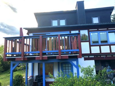 Photo for How in heaven, colorful house on a hill with stunning views of the Ederta