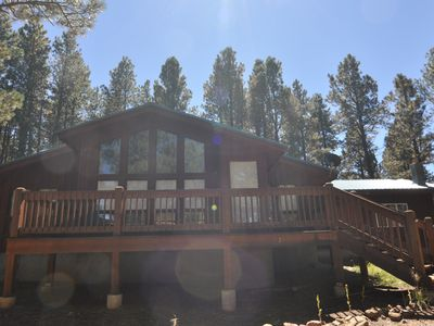 Photo for Welcoming, Comfortable Angel Fire Home with Two Master Bedrooms!