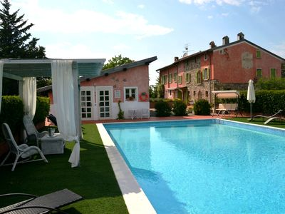 Photo for Historic residence with park and swimming pool on the hills of Lake Garda