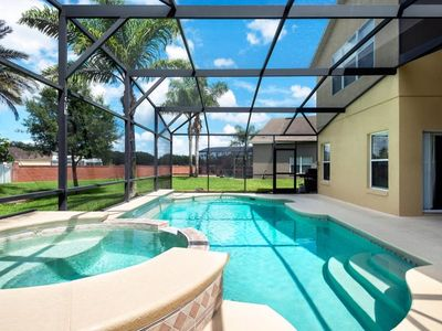Photo for Near Disney World - Arcadia Estates - Feature Packed Relaxing 7 Beds 6.5 Baths  Pool Villa - 2 Miles To Disney