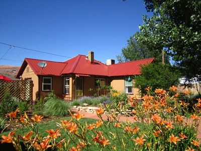 Beautifully landscaped with lots of native plants and flowers