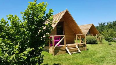Photo for Camping Aquarev *** - Wooden Hut Wood 2 Rooms 2 People