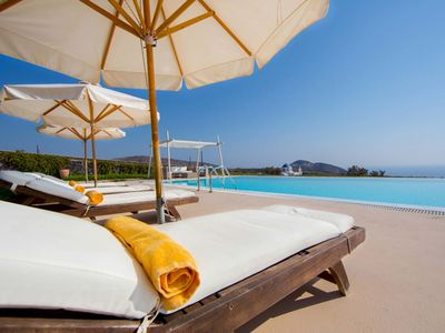 Photo for Villa Ammos is a luxury, stunning property, located in the south west side of Santorini. It can host