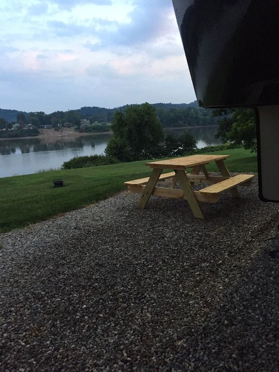 Beautiful Brand New RV setup right on the Riverside   Privately owned site
