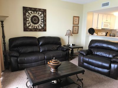 Photo for 9th Fl. Condo! Beach Service! King Sleep Number Bed! Full Size Washer/Dryer!