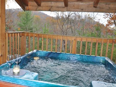 Photo for Hot Tub, FREE Area Attraction Tickets,Wooded View