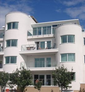 The apartment is the one with the furniture on the balcony. 3rd Floor