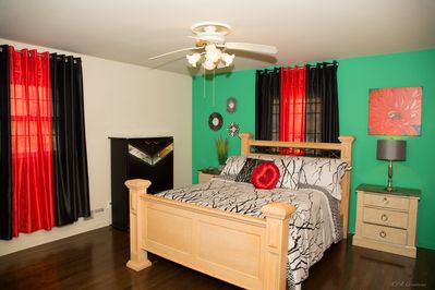 Gorgeous Master Bedroom. Professionally designed with Modern Art Deco accents.
