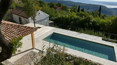 Photo for stylishly renovated stone house with comfort, sea view, pool and large garden