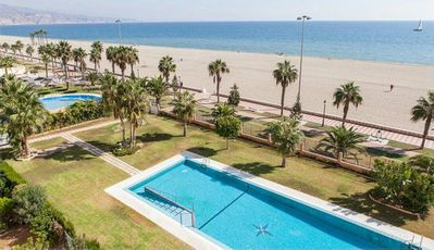 Photo for First line beach apartment with pool