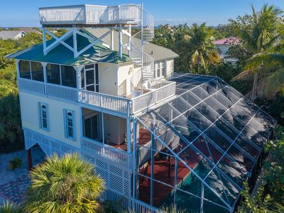 Photo for Manatee Haven: Upscale Beach View Home with Screened-in Pool, Spa & Elevator!