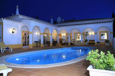 The roman patio is the heart of the villa...