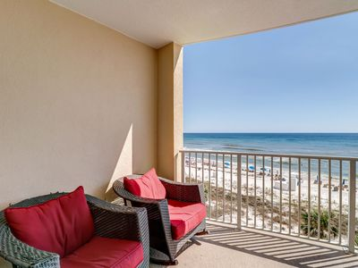 Photo for Beautiful Ocean Villa home steps away from the sand w/private balcony