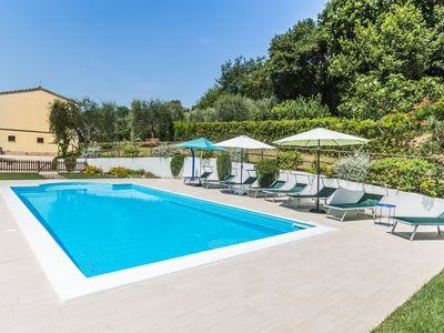 Photo for Villa Andrea with pool in Altidona, in a private and quiet location, 4 km from the Adriatic Sea