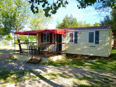 Photo for Mobile home Pisak-directly on the pebble beach (41538-A1) - Seline