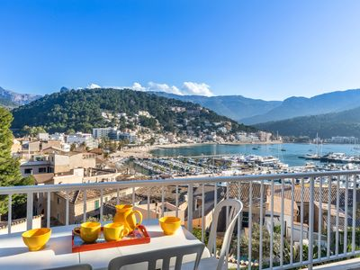 Photo for 80m2, large terrace, panoramic view of the harbor