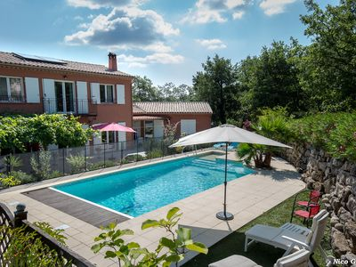 Photo for FAYENCE FAMILY VILLA 8 PEOPLE PRIVATE POOL AND GARDEN