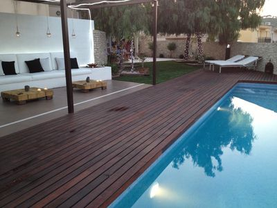 Photo for House with fantastic views equipped with pool and porch & BBQ with Chill-Out