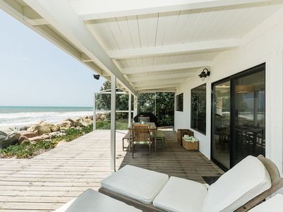 Photo for Pelican Point Oceanfront Home with Private deck right on Pitas Point