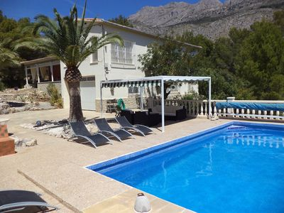 Photo for Comfortable quietly located fenced holiday home with sea view and private swimming pool