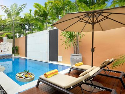 Photo for One Bedroom Villa Great Location in Seminyak, Private Pool, Walk to the Beach